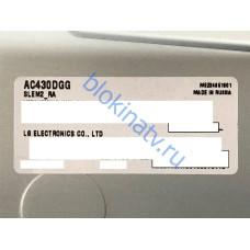 Матрица AC430DGG SLEM2_RA телевизор LG 43UK6390PLG