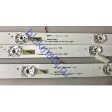 Подсветка 303TC430031 TCL43D08-ZC23AG-07 телевизор DAEWOO U43V890VTE